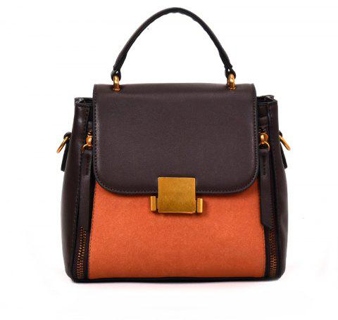 Wild Messenger Hit Color Atmospheric Portable Shoulder Bag - ORANGE