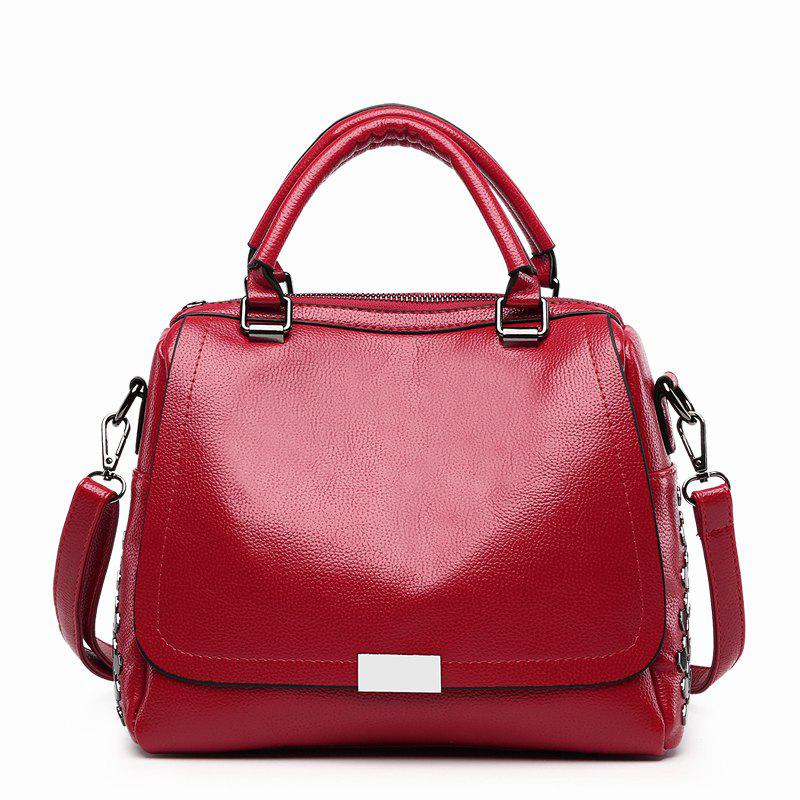 Retro Shoulder Messenger Wild Handbag - RED
