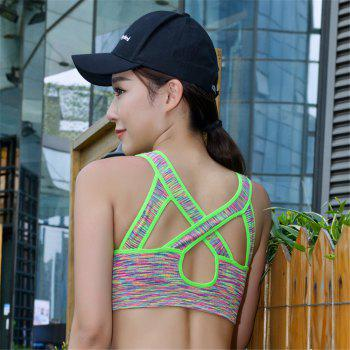 Women Without Steel Ring Fashion Color Perspiration Dry Sports Bra - FLORAL L