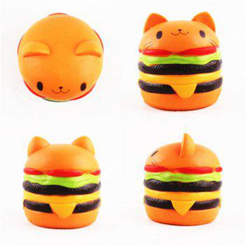 Jumbo Squishy Cat Burger Slow Rising Soft Animal Collection Gift Decor Toy Original Packaging - COLORMIX
