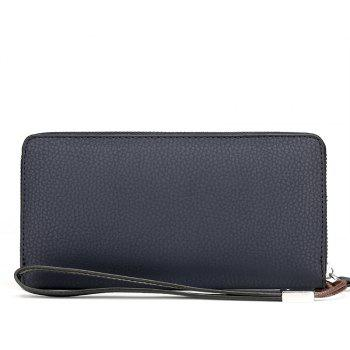Japan and South Korea Department of Long Wallet Handbag Multi-Card Men's Clutch - BLUE