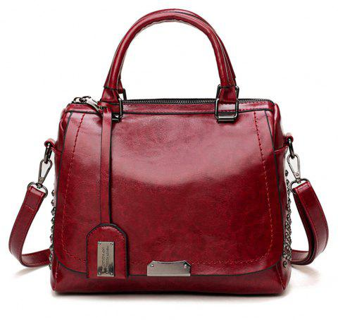 Boston Rivets Shoulder Inclined Shoulder Bag - RED