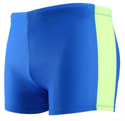 Daifansen Fashion Color Mosaic Fast Dry Beach Swimming Trunks - BLUE GREEN L