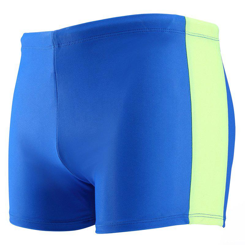 Daifansen Fashion Color Mosaic Fast Dry Beach Swimming Trunks - BLUE GREEN M