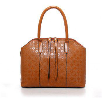 Europe and The United States Fashion Handbags Four Portable Shoulder Diagonal Bag - LIGHT BROWN