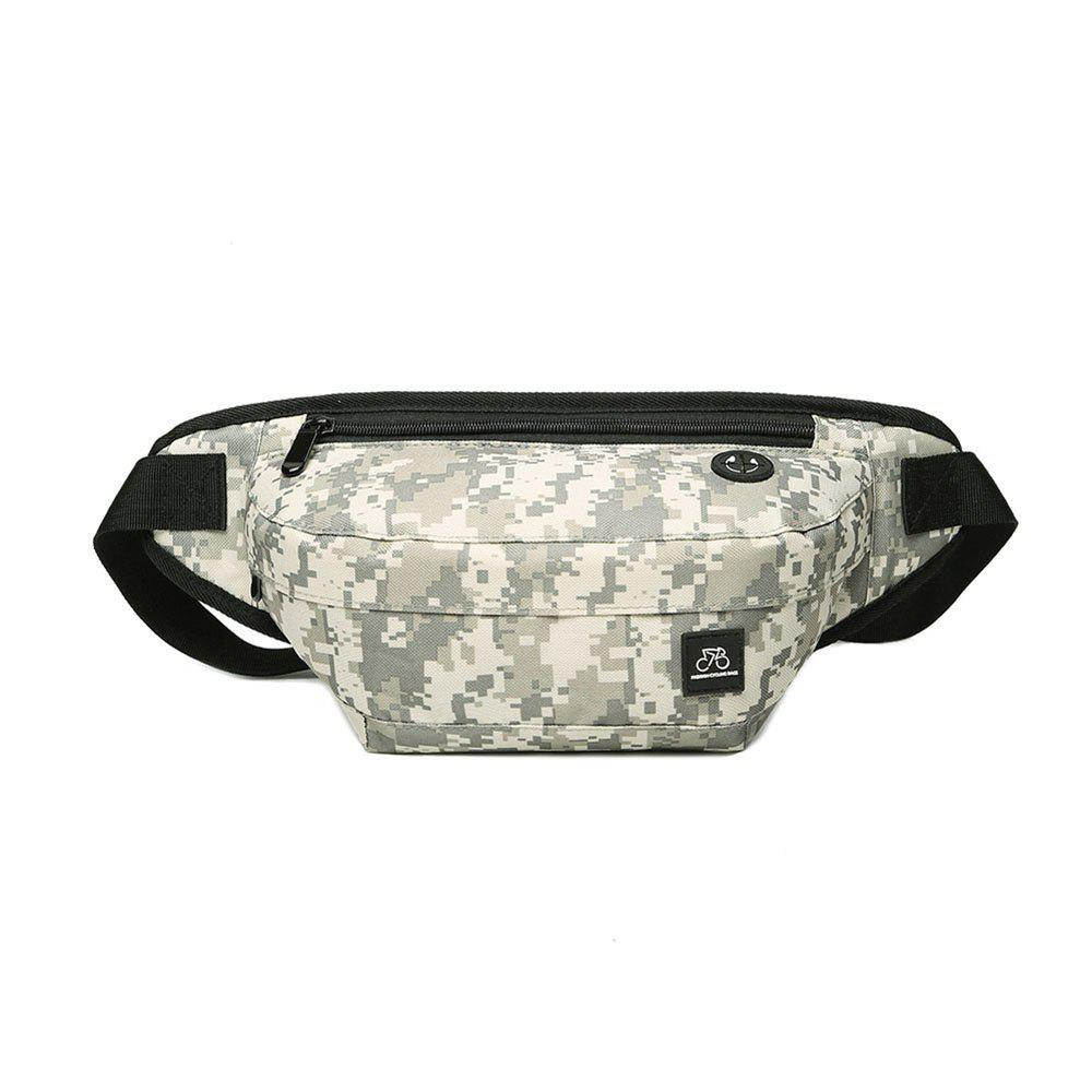 Men's Casual Camouflage Pattern Crossbody Bag - WHITE