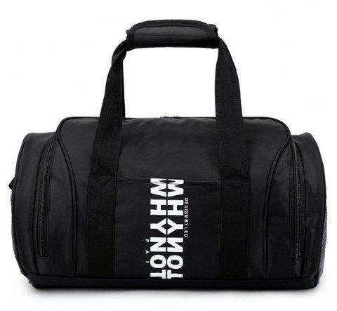 Men's Sports Outdoor Fitness Handbag - BLACK