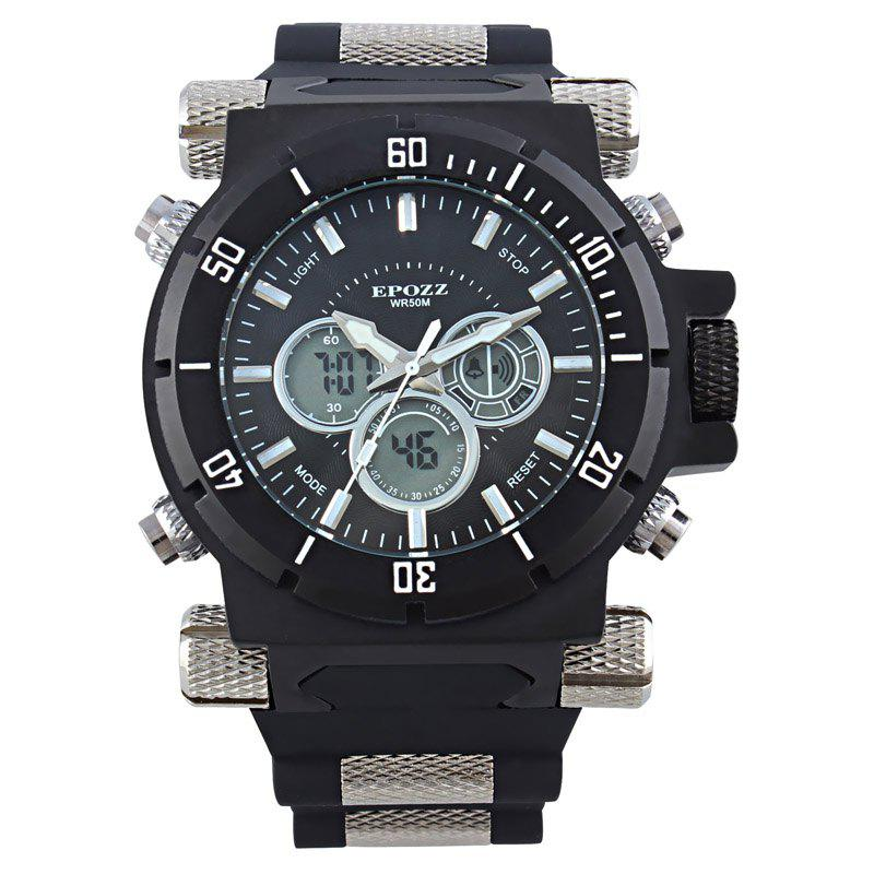 EPOZZ 2813 Men Dual Display Watch Classic Fashion Alarm Waterproof - WHITE