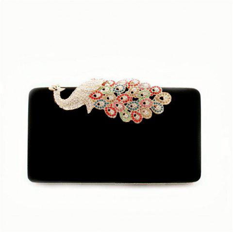 Women Bags Women Evening Clutch Bags Velvet Diamond Ring Handbags Small Round Clutch Bag Day Party Clutches Purses - BLACK