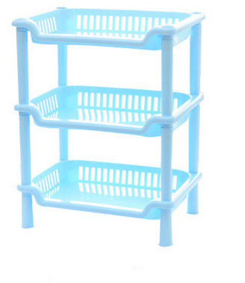 1Pc Bathroom Stacks for Bathroom - BLUE 27X18X35CM