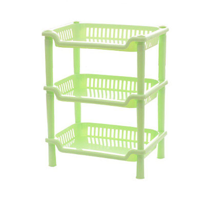 1Pc Square Bathroom Stacks of Plastic Bathrooms - GREEN 27X18X35CM