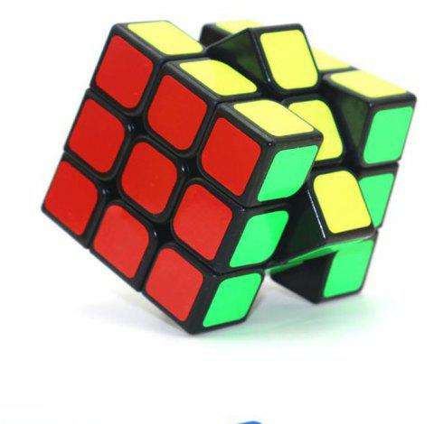 3 x 3 Cube Glossy Magic Cube Student Educational Toys - BLACK