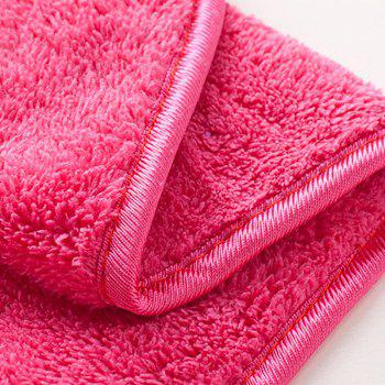 2Pc Modern Solid Color Comfortable Water Absorption Soft Towel - PINK