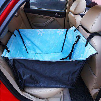 Sunflower Pet Dog Cat Waterproof Car Seat Cover Mat Blanket Rear Back Pets Hammock Cushion Protector - BLUE