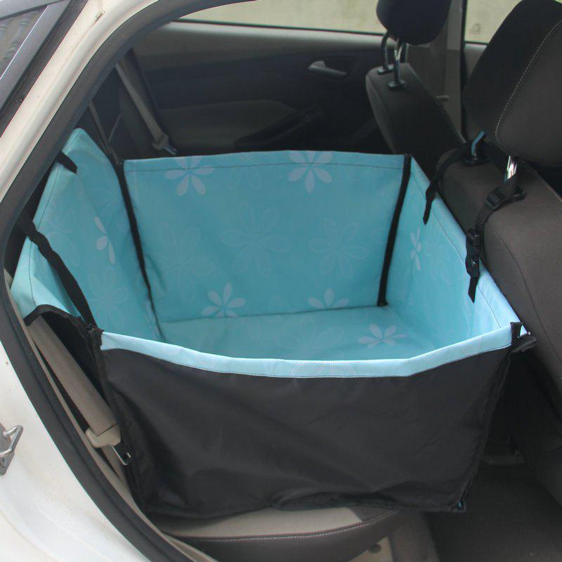 Sunflower Pet Dog Cat Waterproof Car Seat Cover Mat Blanket Rear Back Pets Hammock Cushion Protector - BLUE ZIRCON