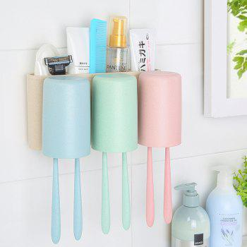 Natural Wheat Toothbrush Holder Strong Traceless Wash Wash Suit - COLORMIX