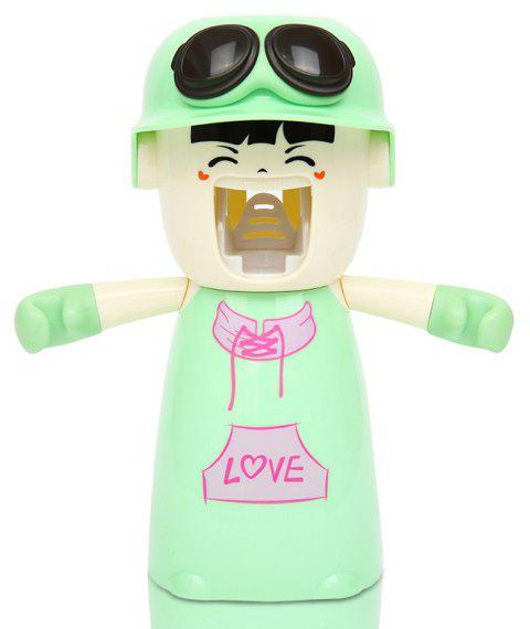 Creative Cartoon Toothbrush Holder Mouthwash Automatic Toothpaste Package - LIGHT GREEN 20X17X9CM