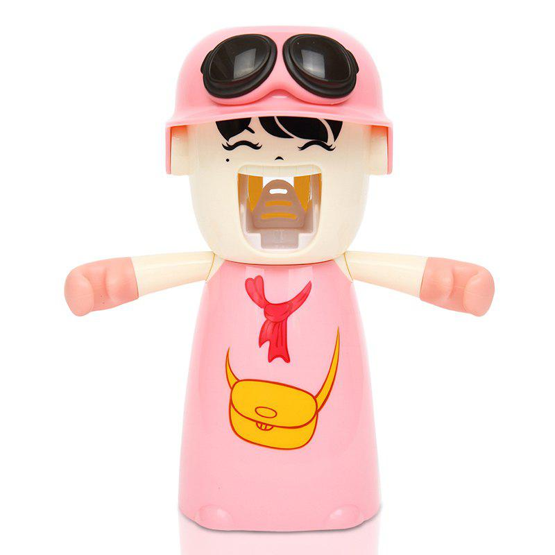 Creative Cartoon Toothbrush Holder Mouthwash Automatic Toothpaste Package - PINK 20X17X9CM
