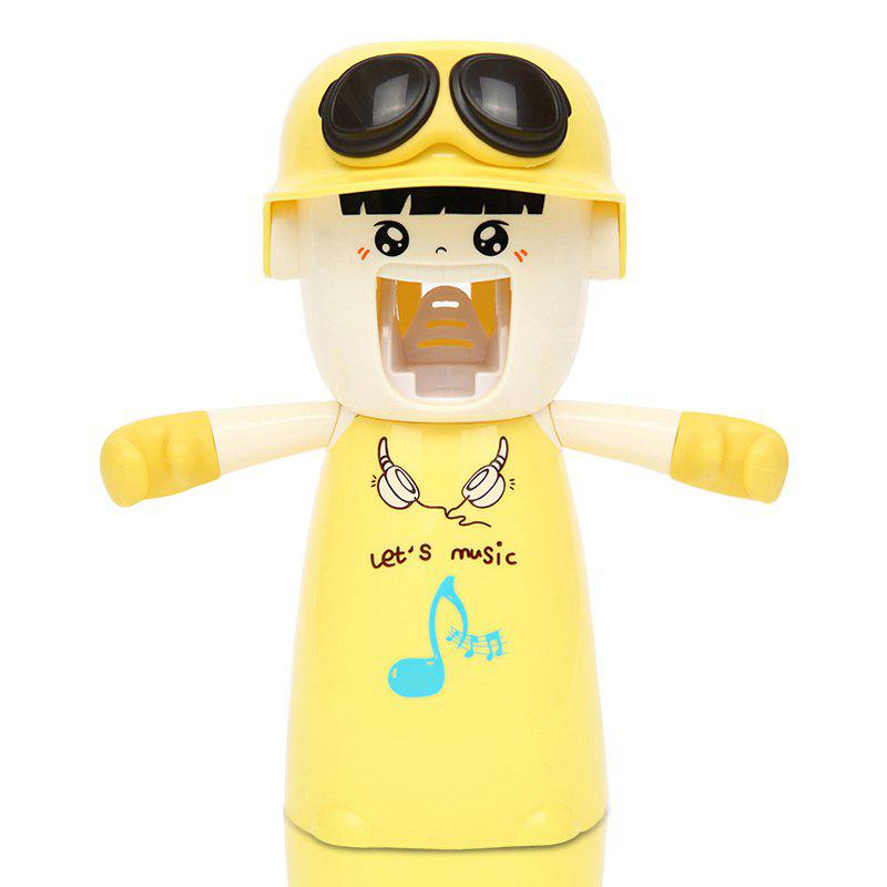 Creative Cartoon Toothbrush Holder Mouthwash Automatic Toothpaste Package - LIGHT YELLOW 20X17X9CM