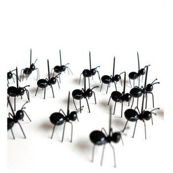 Party Ant Toothpick Diligent Ants Fruit Fork A Box of 12 - BLACK