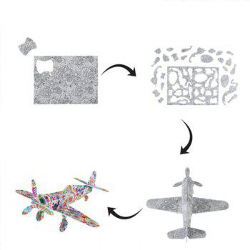 3D Coloring Puzzles Educational Toys Creative Toy Vehicles Plane Helicopter Train - COLOUR