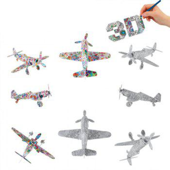 3D Coloring Puzzles Educational Toys Creative Toy Vehicles Plane Helicopter Train - COLORFUL