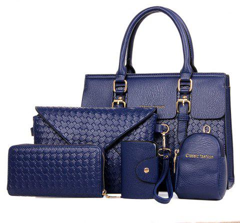 Nut Package Five Pieces of Handbag Shoulder Diagonal Ladies Bag - PURPLE