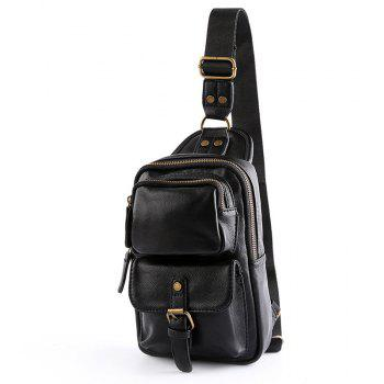 Korean Men s Leather Chest Pack Fashion