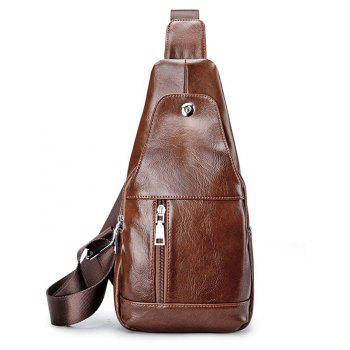 Leather Unbalance Backpack Small Crossbody Bag Men
