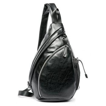 Soft Leather Big Sling Bag Fashion Zip