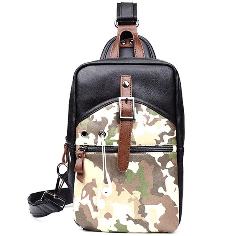 Camouflage Men's Sling Bag Fashion Chest Pack Crossbody Bag Outdoor Travel Waist Bag - CAMOUFLAGE