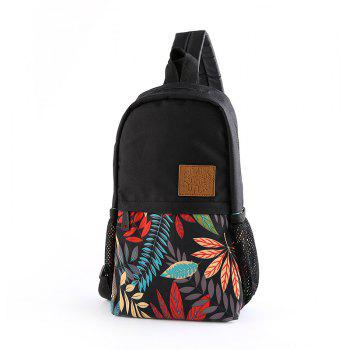 Printing Unisex Canvas Unbalance Backpack Korean Chest