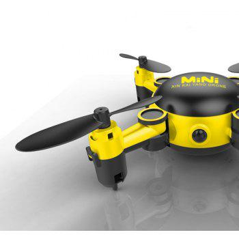 Parrokmon KY901 Mini Foldable RC Selfie Drone with WiFi FPV HD Camera / Altitude Hold / Headless Mode - YELLOW