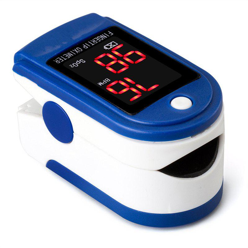 Oximetry Fingers Type Heart Rate Meter Pulse Blood Oxygen Saturation Concentration Detector - BLUE