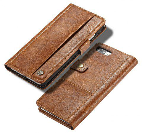 CaseMe Wallet Mobile Phone Case Hard Back Cover for iPhone 7 Plus/8 Plus - BROWN