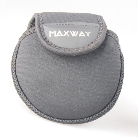 Maxway Neoprene Fly Reel Pouch - BLACK LARGE