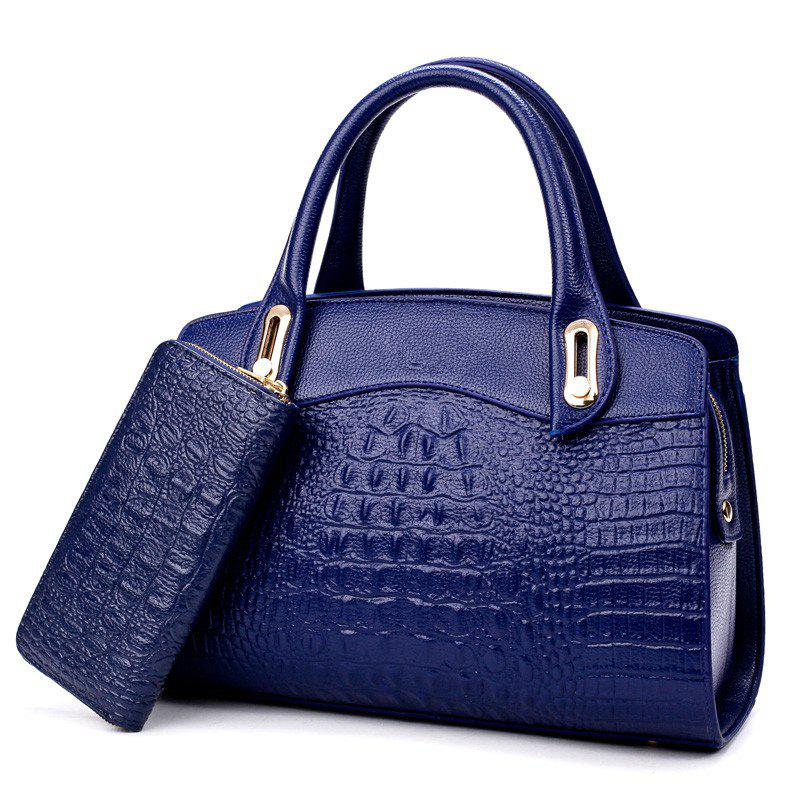The New Fashion Lady's Backpack Two Pieces - BLUE