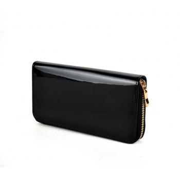 Women's Purse Solid Color Long Pattern All Match Brief Style Charming Fashionable Purse - BLACK