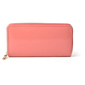 Women's Purse Solid Color Long Pattern All Match Brief Style Charming Fashionable Purse - PINK