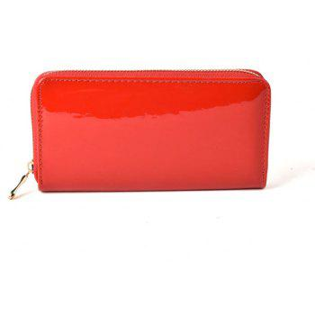 Women's Purse Solid Color Long Pattern All Match Brief Style Charming Fashionable Purse - RED