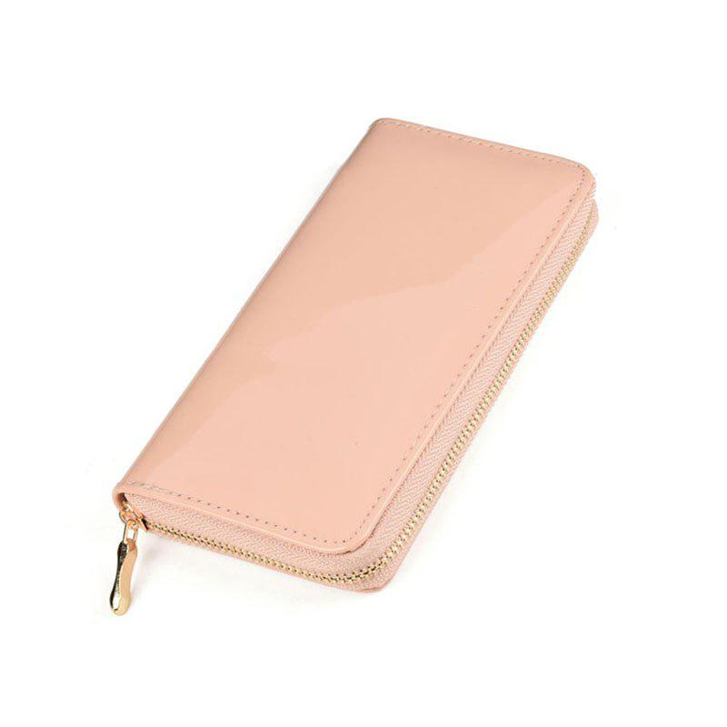 Women's Purse Solid Color Long Pattern All Match Brief Style Charming Fashionable Purse - LIGHT PINK