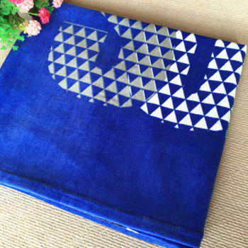 Pure Cotton Outdoor Swimming Beach Towel - BLUE