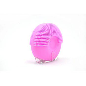 Silicone Vibrating Massager Waterproof Charging Beauty Face Cleaning Machine - PINK