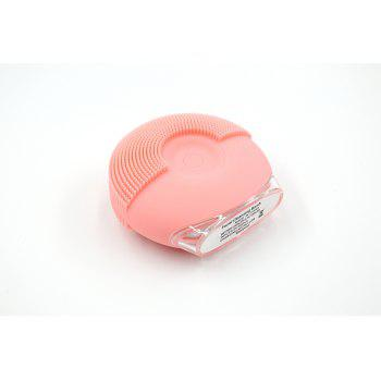 Silicone Vibrating Massager Waterproof Charging Beauty Face Cleaning Machine - ORANGEPINK