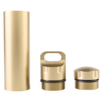 Outdoor Waterproof Warehouse Military Level Airtight Life Capsule Seal Bottle - GOLDEN