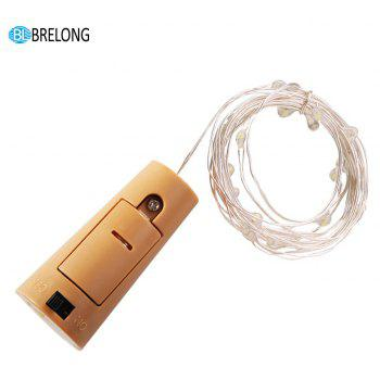 BRELONG 5LED Wine Stopper Brass Lights Decorative Light String 8PCS - WARM WHITE