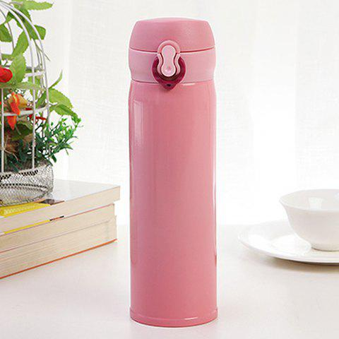 500ML Clamshell Stainless Steel Vacuum Flask Insulated Cup - PINK