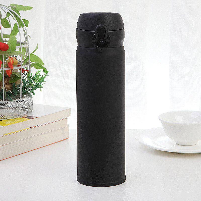 500ML Clamshell Stainless Steel Vacuum Flask Insulated Cup - BLACK