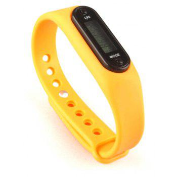 The Fashion Leisure Sports Pedometer Bracelet Watches - ORANGE