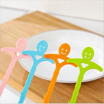 Smiling Face Kitchen Pipe Dredger Toilet Dredger Household Water Tank Drainage and Anti Blocking Clean Hook - BLUE 51CM
